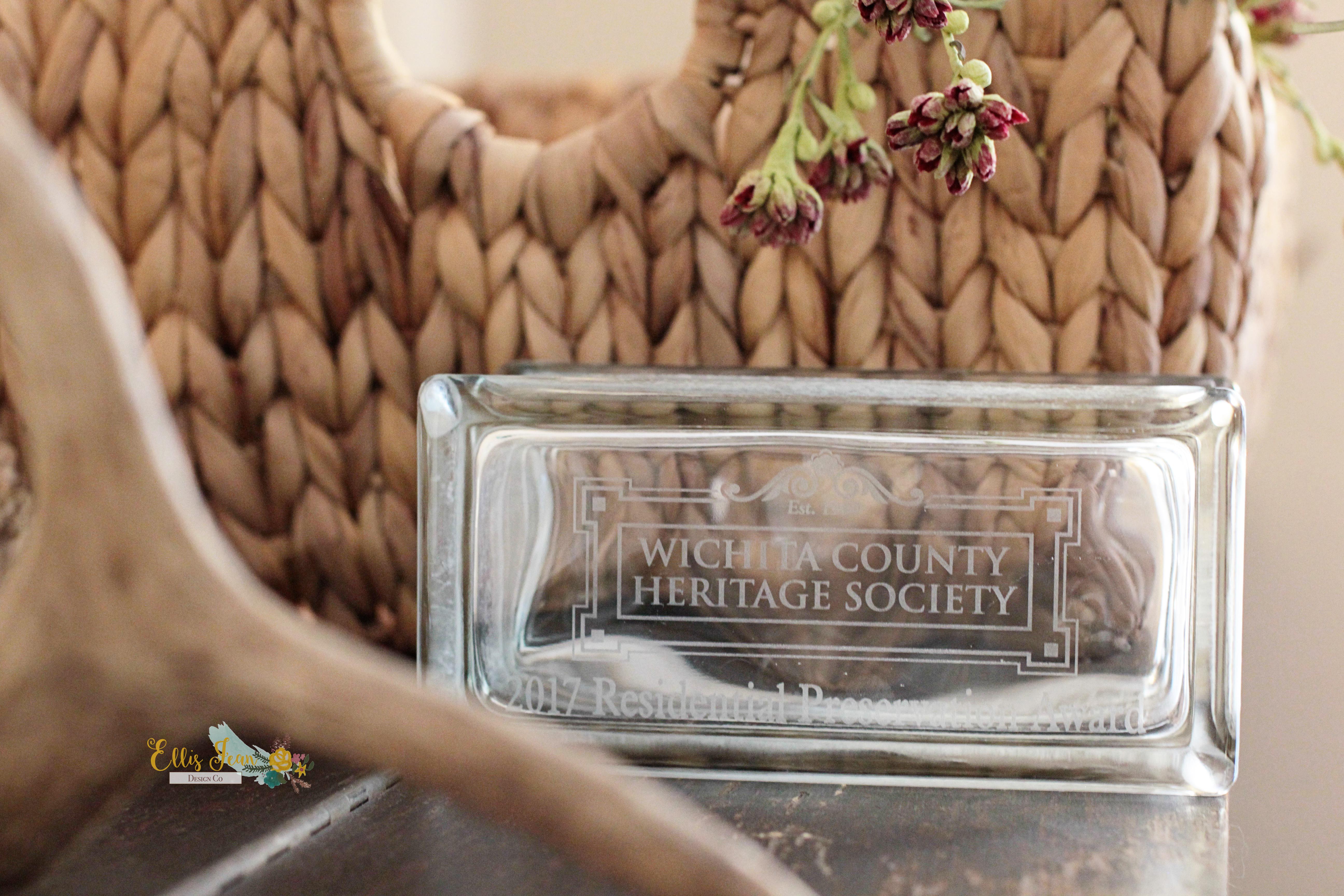 wichita county preservation award 2017